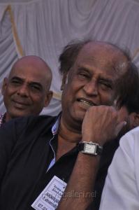 Rajinikanth at Tamil Stars Fasting Against Service Tax Stills