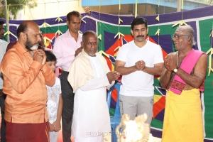 G Siva, Ilayaraja, Vijay Antony @ Tamilarasan Movie Pooja Stills