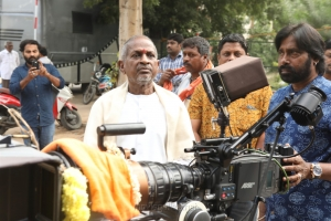 Ilayaraja, RD Rajasekhar @ Tamilarasan Movie Pooja Stills