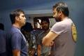 Santhanam, Prem Sai at Tamilselvanum Thaniyar Anjalum Movie On Location Stills