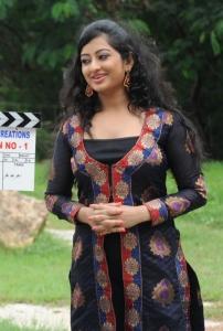 Telugu Actress Tejaswini Stills at Cut Cheste Movie Launch