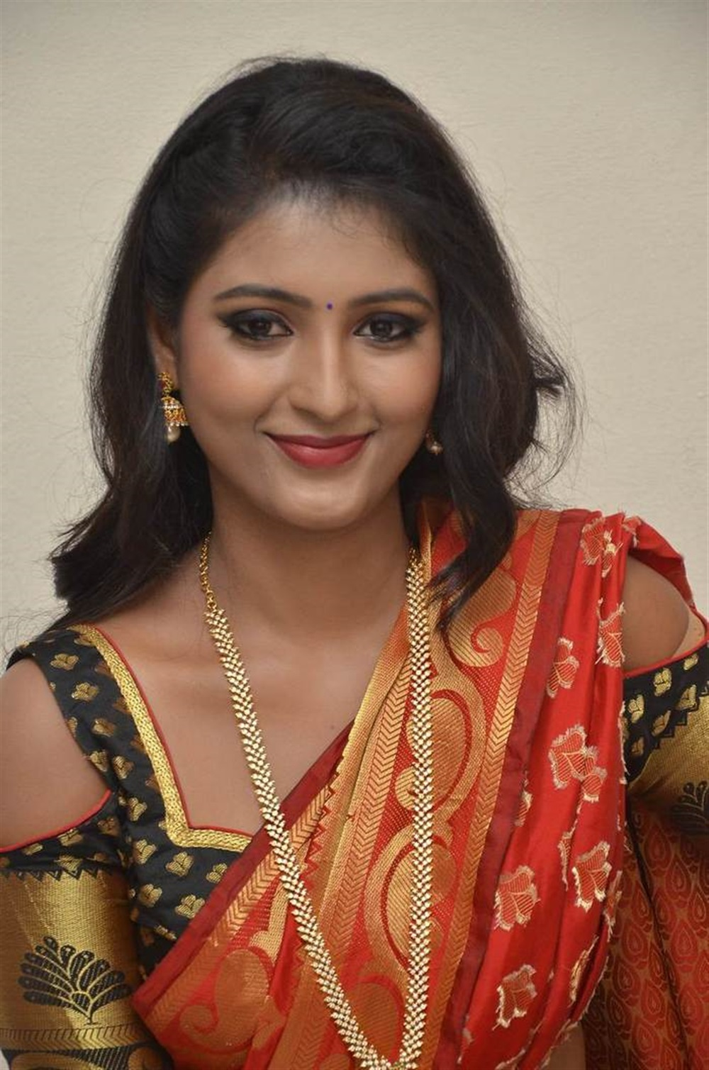 Telugu Actress Tanushka in Red Saree Photos