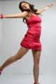 Actress Tanvi Vyas Hot Photoshoot Images in Dark Red Sports Dress