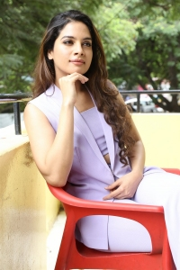 Actress Tanya Hope Interview Stills about Patel SIR Movie