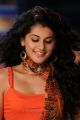 Beautiful Tapasee Pannu in Orange Sleeveless Top