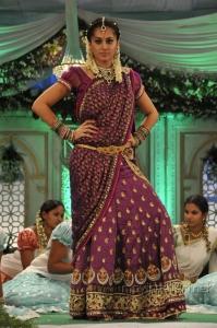 Actress Tapasee Pannu Traditional Saree Photos in Mogudu Movie