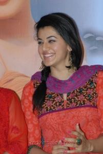 Telugu Actress Tapsee Stills in Orange Salwar Kameez
