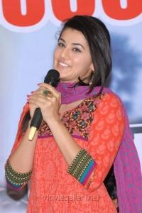 Telugu Actress Tapsee Latest Stills at Gundello Godari Success Meet