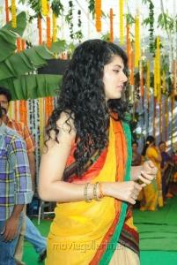 Actress Taapsee Pannu in Saree Photos at Muni 3 Movie Launch