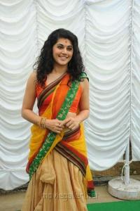 Cute Tapsee Beautiful Saree Photos at Muni 3 Movie Launch