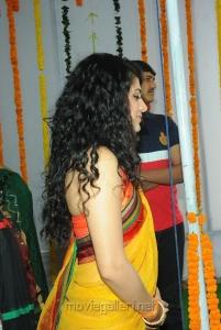 Beautiful Taapsee in Saree Photos at Muni 3 Movie Opening