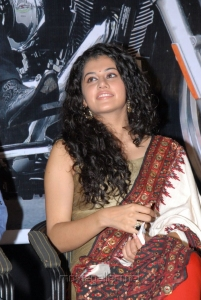 Beautiful Tapsee in golden churidar at Shadow Teaser Release