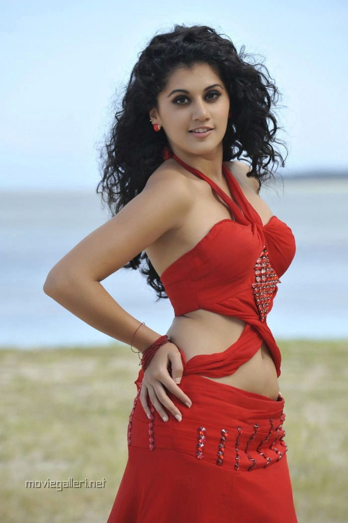 Picture 12251 | Actress Tapsee Hot Stills in Red Dress at Veera ...