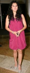 Actress Taapsee Pannu New Hot Pics in Dark Pink Dress