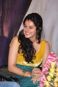 Actress Tapsee at Sahasam Special Show Photos