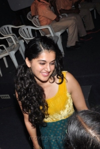 Tapsee Recent Photos at Sahasam Special Screening for School Students