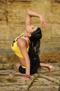 Telugu Actress Tashu Kaushik Hot Yellow Dress Pics