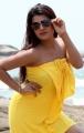 Tashu Kaushik Spicy Hot Photoshoot Stills in Yellow Dress