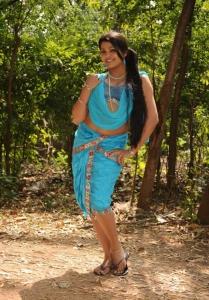 Telugu Actress Tashu Koushik in Traditional Attire Hot Pics