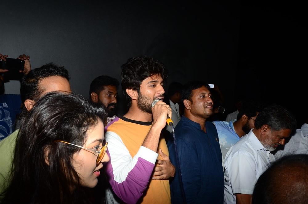 Vijay Devarakonda @ Taxiwala Movie Team at Gokul Theatre Photos