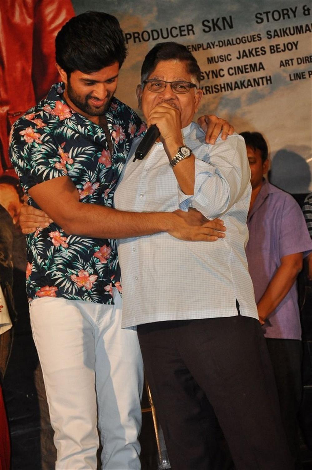 Vijay Devarakonda, Allu Aravind @ Taxiwala Movie Teaser Launch Stills