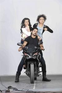 Sreesanth, Nikki Galrani, Pearle Maaney in Team 5 Movie Stills