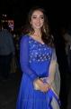 Actress Tejaswi Madivada Blue Embroidered Churidar Photos