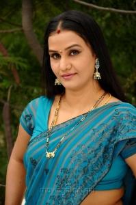 Telugu Actress Apoorva Saree Hot Stills