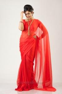 Lakshmi Menon Hot Red Saree Photo Shoot Stills