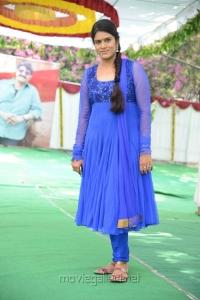 Telugu TV Actress Bhavana in Blue Salwar Kameez Photos