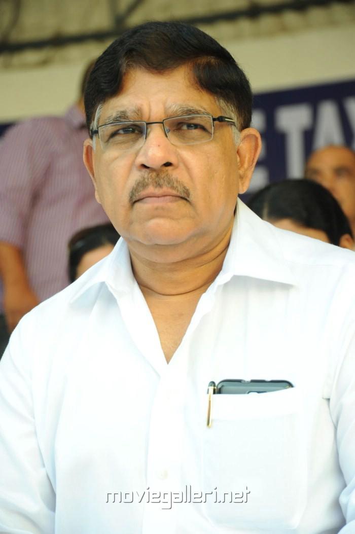 Allu Aravind at Telugu Film Industry Protest Against Sevice Tax Stills