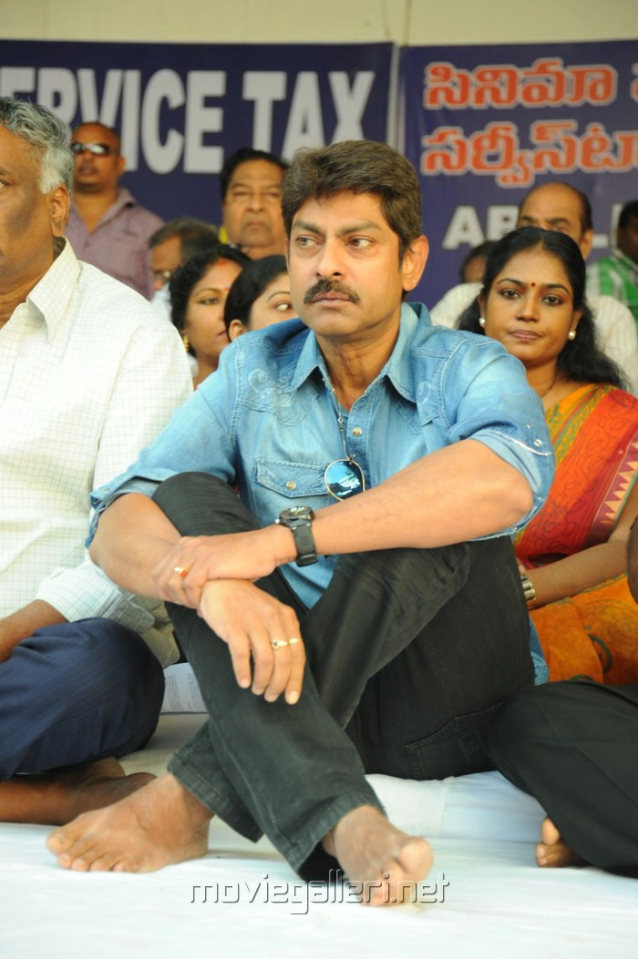 Jagapathi Babu at Telugu Film Industry Protest Against Sevice Tax Photos