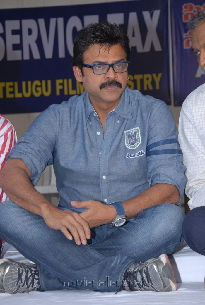 Venkatesh at Telugu Film Industry Protest Against Sevice Tax Stills