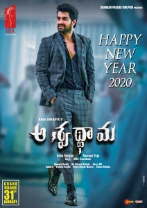 Aswathama Movie New Year 2020 Wishes Poster