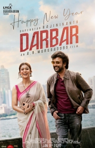 DARBAR Movie New Year 2020 Wishes Poster