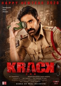 Ravi Teja Krack Movie New Year 2020 Wishes Poster