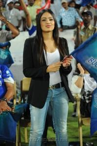 Nikisha Patel @ Telugu Warriors vs Karnataka Bulldozers Match