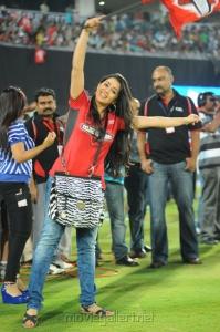 Cute Actress Charmi @ Telugu Warriors vs Karnataka Bulldozers Match
