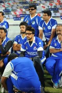 Actor Sudeep @ Telugu Warriors vs Karnataka Bulldozers Match