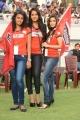 Sonia Deepti, Madhurima, Rachana Maurya at Telugu Warriors Vs Karnataka Bulldozers Match Photos