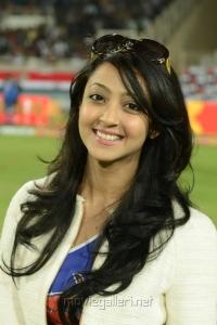 Aindrita Ray at CCL 3 Telugu Warriors Vs Karnataka Bulldozers Match Photos