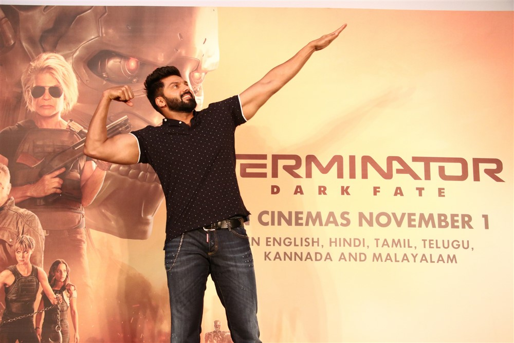 Actor Arya @ Terminator Dark Fate Movie Trailer Launch Stills