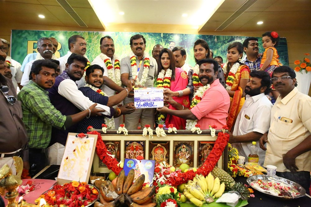 SP Prakasam, Monisha, Saloni, Nandhini @ Thaali Movie Pooja Stills