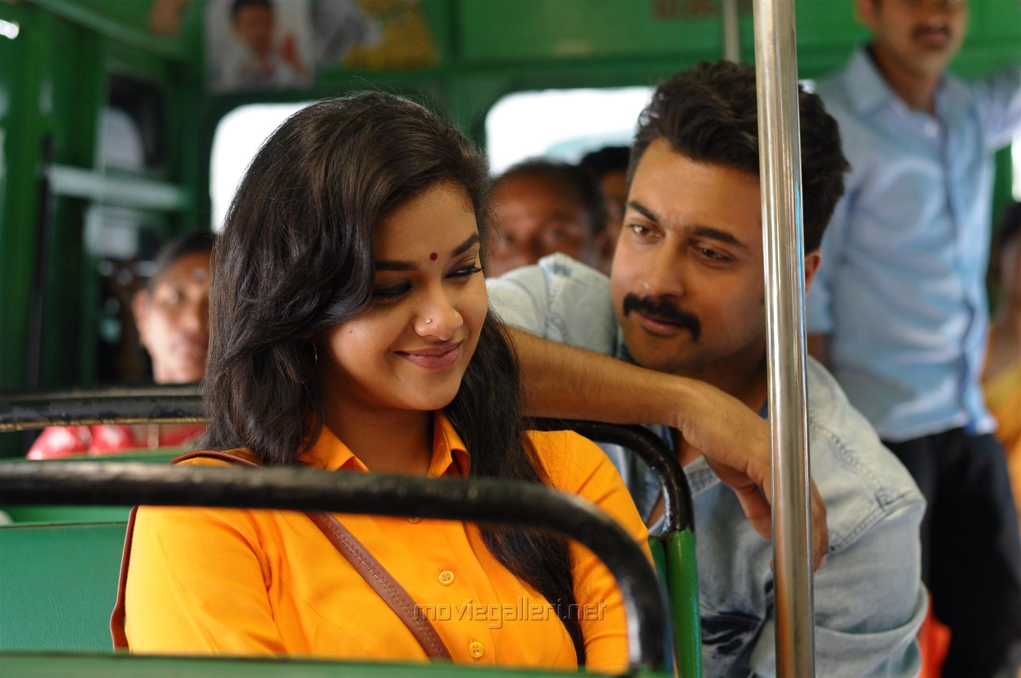 Keerthi Suresh, Suriya in Thaana Serndha Koottam Movie HD Photos