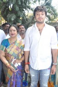 Jayachitra son Amaresh at Thaaru Maaru Movie Launch Photos