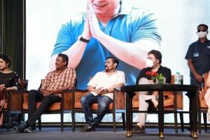 Samuthirakani, Deepak, Arvind Swami @ Thalaivi Trailer Launch Stills