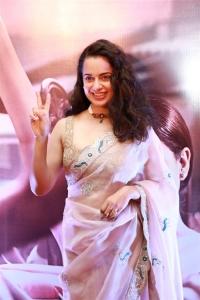 Kangana Ranaut @ Thalaivi Trailer Launch Stills