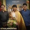 Nelson, Sembian Sivakumar @ Thalapathy 65 Movie Poojai Stills