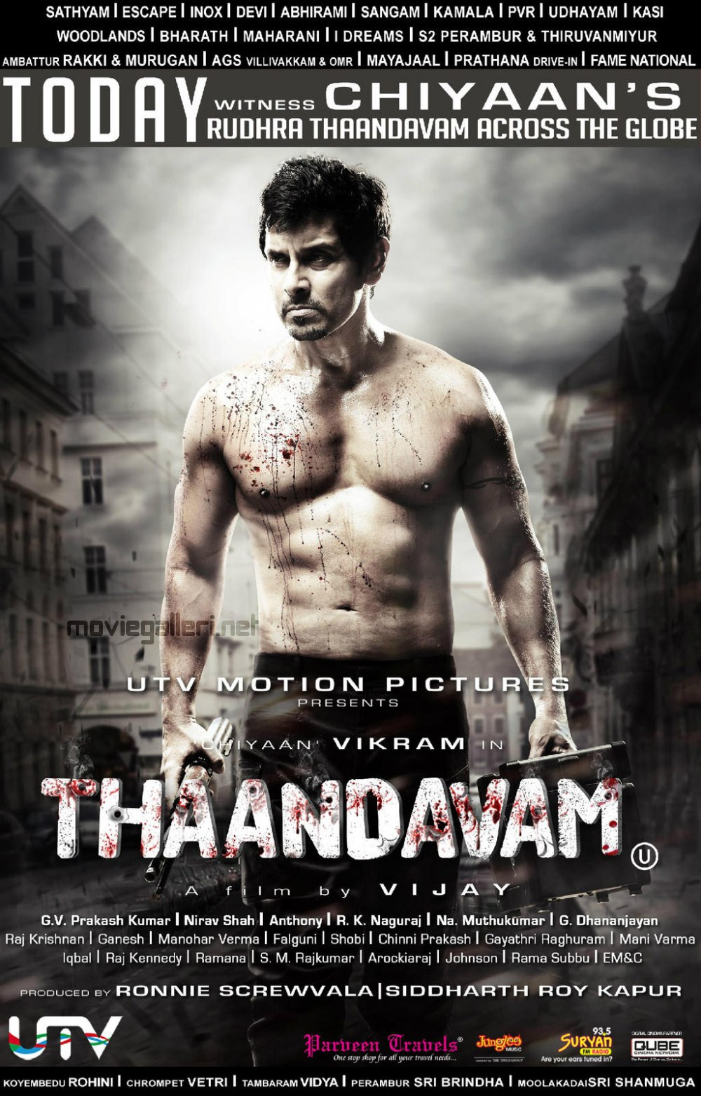 Chiyaan Vikram in Thandavam Movie Release Posters