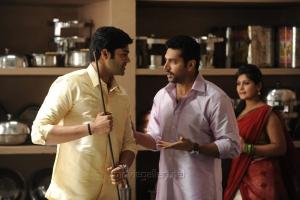 Ganesh venkatraman, Jayam ravi in Thani Oruvan Movie New Photos